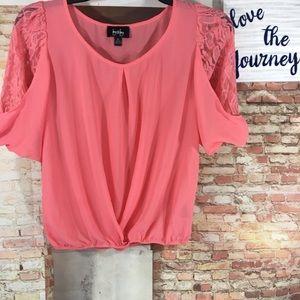 By & By Sheer Blouse Medium